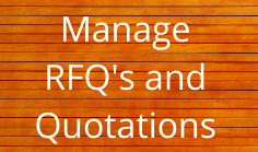 Manage RFQ's and Quotations